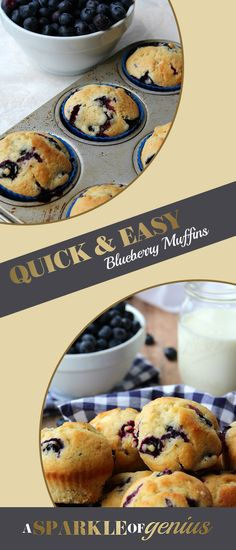 There's something special about a warm out-of-the-oven muffin that really makes me happy. For a recipe you're sure to love check out my blog, A Sparkle of Genius. These Quick and Easy One Bowl Blueberry Muffins will have your neighbors begging for you to share and your kids to make more!