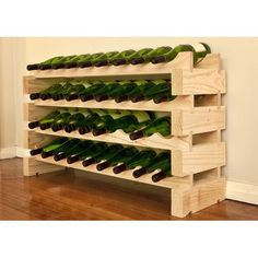 Show details for Modularack Wooden Wine Rack 36 Bottle - Natural Pine Wine Bottle Rack, Wine Glass Rack, Wine House, Wood Wine Racks, Wine Brands, Flat Shapes, Wine Collection, Rack Design, Wine Storage