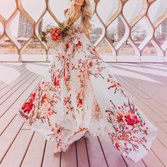 Sexy Elegant Floral Print Sleeveless Maxi Dress