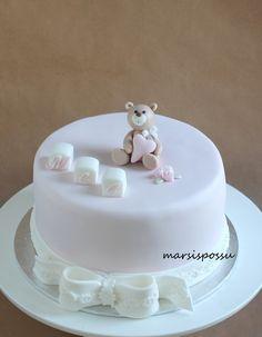 Marsispossu: Galleria Baby Birthday Cakes, Happy Birthday, Christening Cakes, Diy For Girls, Baby Showers, Cami, Cupcakes, Desserts, Baby Shower Cakes