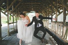 These two couldn't be more excited about having just tied the knot | Image by Athena Grace
