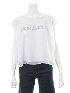 31 Sons de mode(トランテアン ソン ドゥ モード)通販  シフォンレイヤーロゴTシャツ