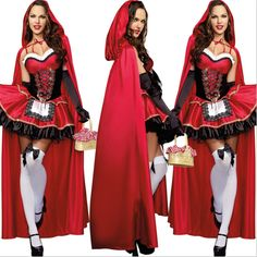 halloween costume on sale at reasonable prices, buy 2018 new high quality Little Red Riding Hood Costume Deluxe embroidery Red Sexy dress cosplay Party Halloween Costumes for Women from mobile site on Aliexpress Now! Little Red Riding Hood Halloween Costume, New Halloween Costumes, Red Riding Hood Costume, Red Costume, Halloween Dress, Halloween Cosplay, Costume Dress, Adult Halloween, Halloween Party