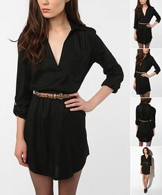 Sparkle & Fade Shirtdress  Online Only  $59.00