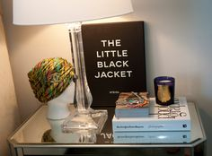 bedside table @ Venz Edits..have the book, want the candle