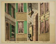 Nr. 1555. Ville. (Coulisses.) Stadt. (Culissen.). Town. (Side-scene). Cindat (Corredera). Citta. (Corsia)