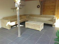 Ook leverbaar. .. tuinbanken van gebruikt steigerhout in alle maten.