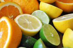Tips to help you drink more water... Freeze peeled pieces of lemons, limes, and oranges and use them instead of ice cubes – it's refreshing and helps get in a serving or two of fruit.