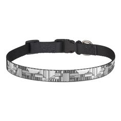 Black and White Geo Abstract Dog Collar