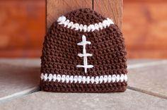 CROCHET PATTERN - Football Beanie. $3.50, www.etsy.com/shop/sweetdecemberhats