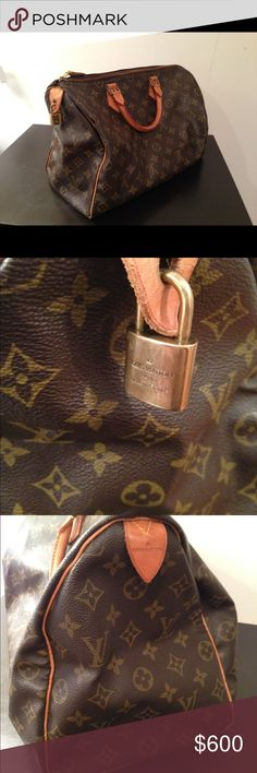 Louis Vuitton Speedy 35 Authentic Louis Vuitton Purse • Used very gently with love • Comes with lock and key • No major flaws, in very good condition • What you see is what you get.. asking $600 OBO Louis Vuitton Bags Shoulder Bags