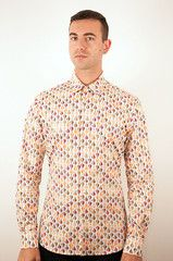 """Cool shirt for a fun dude: The Hot Air Balloon Long Sleeved Shirt. Great holiday gift for someone who's looking for a little """"lift off"""". Handmade in the UK and shipped FREE to the Canada or USA. Lift Off, Mens Attire, Dapper Men, Vintage Inspired Dresses, Hot Air Balloon, Well Dressed, Cool Shirts, Long Sleeve Shirts, Balloons"""