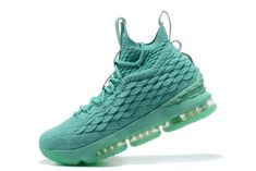 f2f407e2c3213 2018 New Nike LeBron XV EP 15 Mens Basketball Shoes Mint Green Gold