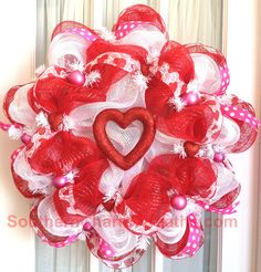 Custom order #decomeshwreath Valentine wreath given as a gift.