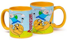 Adventure Time Mug.  I would drink some hardcore stuff with this.(plus I sooo need to get this for Noah!)