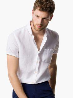 SHORT-SLEEVED LINEN SHIRT - View all - Casual shirts - MEN - United Kingdom