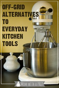 When the power goes out, can you still cook supper? Do you have the necessary kitchen tools to cook if the electricity is out? Off-Grid Alternatives for Every Day Kitchen Tools via Survival Food, Homestead Survival, Survival Prepping, Emergency Preparedness, Survival Skills, Survival Supplies, Survival Shelter, Urban Survival, Camping Survival