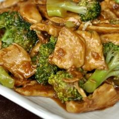 Wok Cooking Stir-fry Chicken with Broccoli