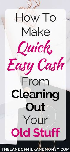 I love these tips for how to make extra money! Who knew that spring cleaning could be such a great side hustle! So many awesome ideas for making money on the side and growing my income, just from selling my old stuff - my budget will love this extra money!