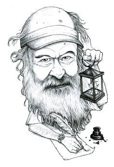 Mark Zimmermann aka ^z --- caricature by Gareth Southwell ( http://woodpig.co.uk )