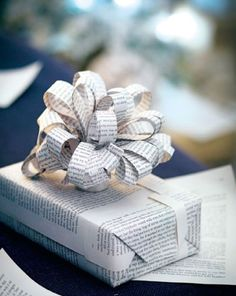 gift wrap ideas from Living Etc. via happymundane.com