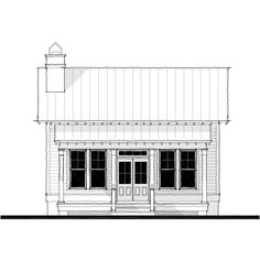 Allison Ramsey Architects | Floorplan for Saluda River Club Cottage D - 1113 square foot house plan # 15116D