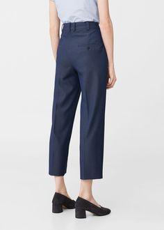 Cotton crop trousers | MANGO