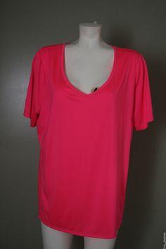 Lane Bryant Plus Size Active Apparel Pink Tshirt Top Short Sleeves Wicking 14/16 #LaneBryant #ShirtsTops
