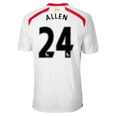 Allen de Camiseta Del Liverpool Segunda Equipacion 2013 2014 5ded5fa451803