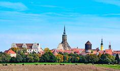 Bautzen Ortenburg mit Petridom, Wasserkunst, Rathausturm und Reichenturm. Fotografie von Lothar Seifert