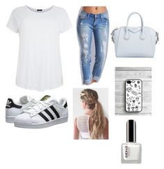 """""""Untitled #16"""" by khaelynnstyles ❤ liked on Polyvore featuring adidas Originals, Givenchy, women's clothing, women, female, woman, misses and juniors"""