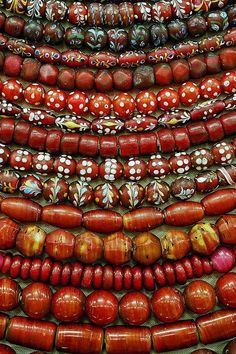 hand painted African trade beads