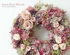 wreath Lace Bouquet, Rustic Fabric, Diy Craft Projects, Crafts, Deco Floral, Summer Wreath, Door Wreaths, Artificial Flowers, Flower Decorations