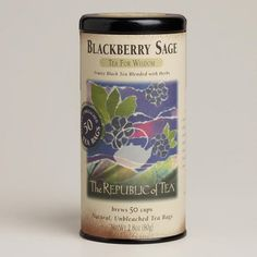 One of my favorite discoveries at WorldMarket.com: The Republic of Tea Blackberry Sage Black Tea, 50-Count