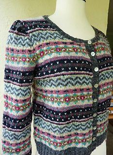Kauni Stranded Sampler Jacket pattern by Flory Loughead | Jacket ...