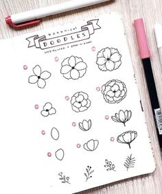 Looking to add some cute doodles to your bullet journal! Check out these super cute step by step tutorials to help you get started! Bullet Journal Aesthetic, Bullet Journal Notebook, Bullet Journal Printables, Bullet Journal Ideas Pages, Bullet Journal Layout, Bullet Journal Inspiration, Doodle Drawings, Easy Drawings, Doodle Art