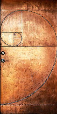 """Fibonacci Door - """"sacred geometry"""" in architecture Les Doors, Windows And Doors, Cool Doors, Unique Doors, Porte Design, Door Design, Door Knockers, Doorway, Sacred Geometry"""