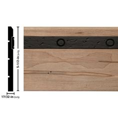 "Ornamental Mouldings Rustic Ambrosia Maple 5.5"" H x 96"" W x 0.54"" D Chair Rail | Wayfair Baseboard Molding, Base Moulding, Baseboards, Chair Rail Molding, Ornamental Mouldings, Texture Design, Bamboo Cutting Board, Wrought Iron, Wood Grain"