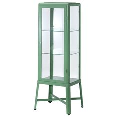 FabrikÖr Glass-door Cabinet, Light Green