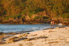 Locals fishing on the beach in Tonga.  #beaches