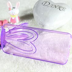 New Fashion Cartoon Animal Rabbit Rabbit Ear Crystal Soft Back Stand Case Cover For iPhone 5 5S Phone Shell Case with Strap