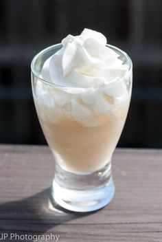Butternut Rum Lifesaver ~ 1/2 ounce Baileys Irish Cream, 1/2 ounce butterscotch schnapps, 1/2 ounce coconut rum, 1/2 pineapple juice, whipped cream
