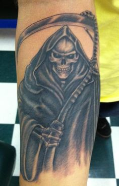 Grim Reaper Tattoo by Nano at our West Palm Beach studio (561) 641-8503