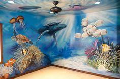 Sea Life Mural by SoCal artist