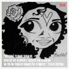 """""""Sucesso e as Negas"""". Uma série de retratos ilustrados de mulheres negras com sua visão de sucesso."""