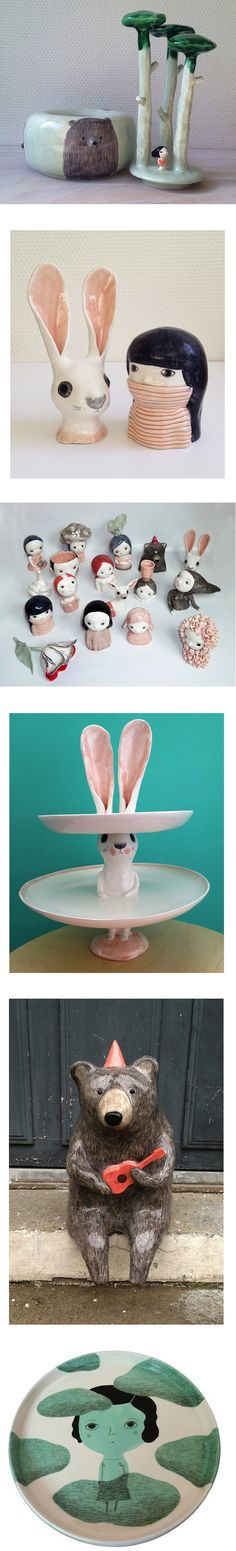 ceramic art by Natalie Choux via theartcake.com