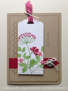 Pretty Sympathy Card from Lisa Martz - SU - Teeny Tiny Wishes, Summer Silhouettes