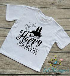 Happy Camper Toddler Vinyl Graphic Tee by LilMongosBoutique