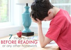7 things to do before your child tackles homework.