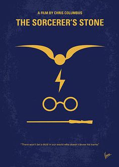 East Urban Home 'Harry Potter and the Sorcerer's Stone II Minimal Movie Poster' by Chungkong Vintage Advertisement on Wrapped Canvas Size: Harry Potter Painting, Harry Potter Fan Art, Minimal Movie Posters, Minimal Poster, The Sorcerer's Stone, Movie Poster Art, Poster Poster, Poster Prints, Thing 1